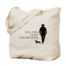 Real Men Own Dachshunds Tote Bag