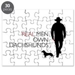 Real Men Own Dachshunds Puzzle