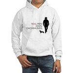Real Men Own Dachshunds Hooded Sweatshirt