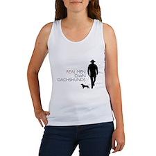 Real Men Own Dachshunds Women's Tank Top