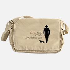 Real Men Own Dachshunds Messenger Bag