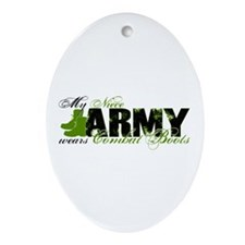 Niece Combat Boots - ARMY Ornament (Oval)
