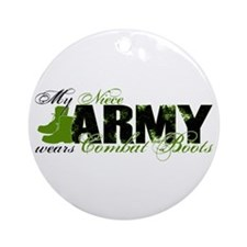 Niece Combat Boots - ARMY Ornament (Round)
