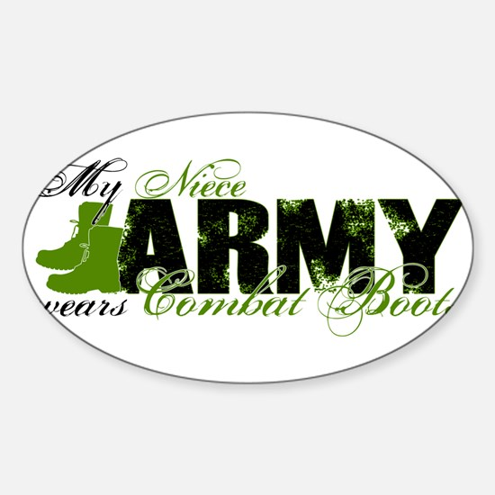 Niece Combat Boots - ARMY Sticker (Oval)