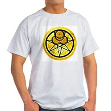 Mark of the Beast Ash Grey Tee - Gold