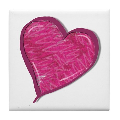 Heart Tile Coaster