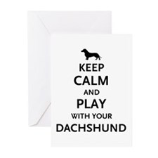 Keep Calm Dachshund Greeting Cards (Pk of 10)
