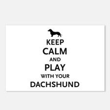 Keep Calm Dachshund Postcards (Package of 8)