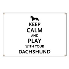 Keep Calm Dachshund Banner