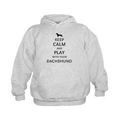 Keep Calm Dachshund Hoodie