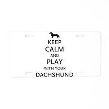 Keep Calm Dachshund Aluminum License Plate