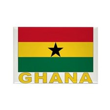 Ghana Flag Rectangle Magnet