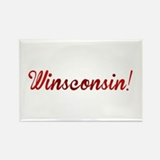 Winsconsin! Putting the WIN i Rectangle Magnet