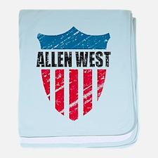 Allen West Shield baby blanket