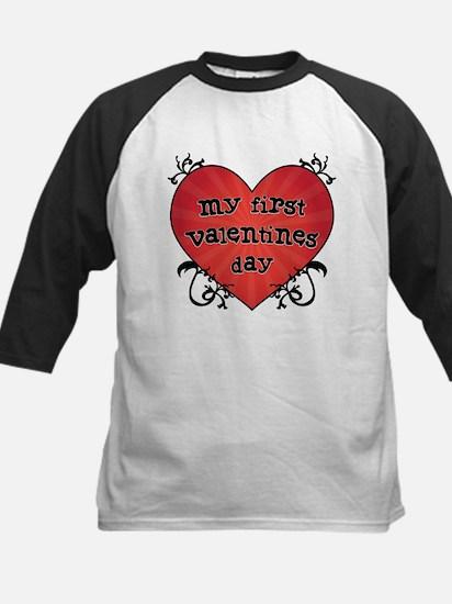 Tattoo Heart 1st Valentines Kids Baseball Jersey