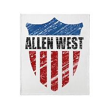 Allen West Shield Throw Blanket