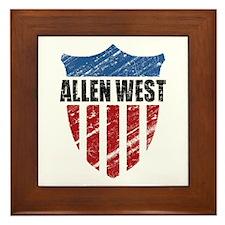 Allen West Shield Framed Tile