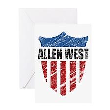 Allen West Shield Greeting Card