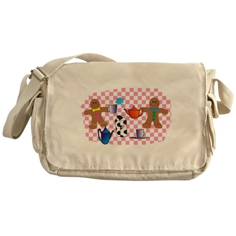 Gingerbread picnic Messenger Bag