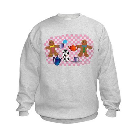 Gingerbread picnic Kids Sweatshirt