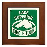 Lake Superior Circle Tour Framed Tile