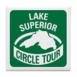 Lake Superior Circle Tour Tile Coaster