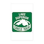 Lake Superior Circle Tour Sticker (Rectangle 10 pk