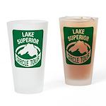 Lake Superior Circle Tour Drinking Glass
