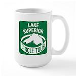 Lake Superior Circle Tour Large Mug