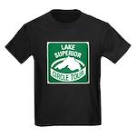 Lake Superior Circle Tour Kids Dark T-Shirt