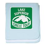 Lake Superior Circle Tour baby blanket