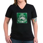 Lake Superior Circle Tour Women's V-Neck Dark T-Sh