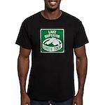 Lake Superior Circle Tour Men's Fitted T-Shirt (da