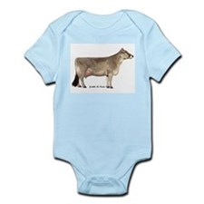 Brown Swiss Dairy Cow Infant Bodysuit