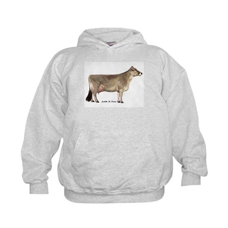 Brown Swiss Dairy Cow Kids Hoodie