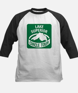 Lake Superior Circle Tour Kids Baseball Jersey