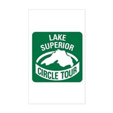 Lake Superior Circle Tour Sticker (Rectangle)