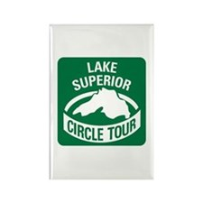 Lake Superior Circle Tour Rectangle Magnet