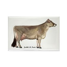 Brown Swiss Dairy Cow Rectangle Magnet