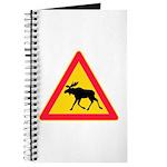 Moose Crossing Road Sign Journal