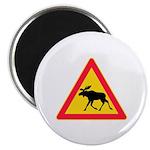 Moose Crossing Road Sign Magnet