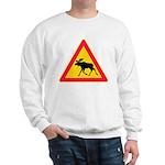 Moose Crossing Road Sign Sweatshirt