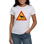 Moose Crossing Road Sign Women's T-Shirt