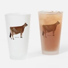 Jersey Cow Drinking Glass