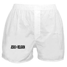Jesus Greater Than Religion Boxer Shorts
