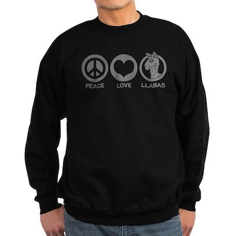 Peace Love Llama Sweatshirt (dark)