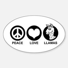 Peace Love Llama Decal