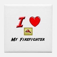 FIREFIGHTER GEAR Tile Coaster