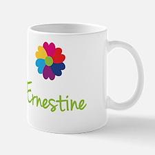 Ernestine Valentine Flower Small Mugs