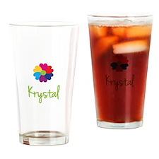 Krystal Valentine Flower Drinking Glass